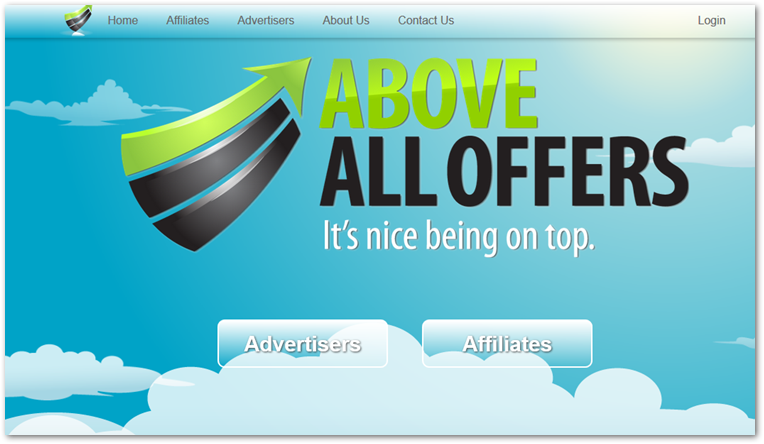 Above All Offers homepage