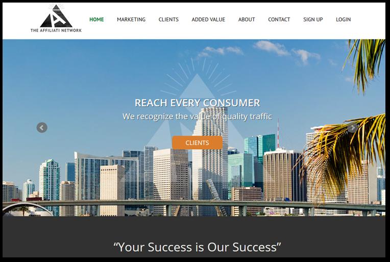 Affiliati network homepage