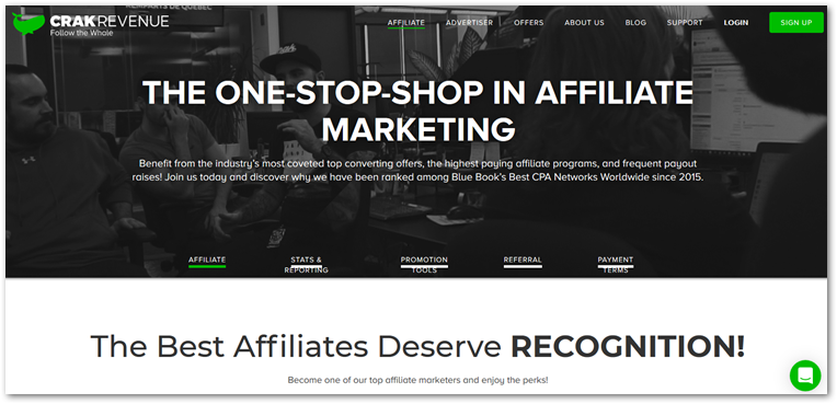 Crakrevenue affiliate page