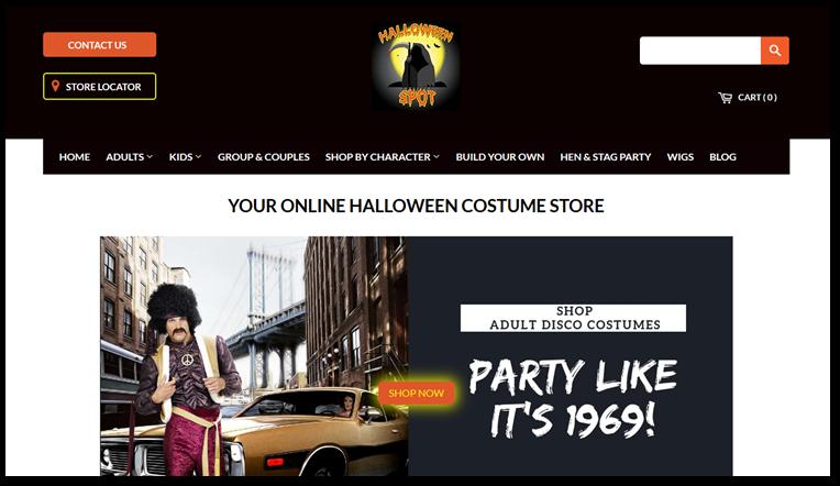 Halloween Spot homepage