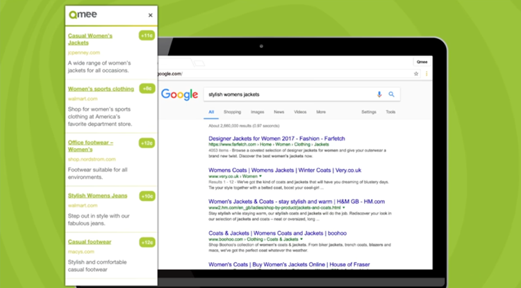 Qmee and Google results