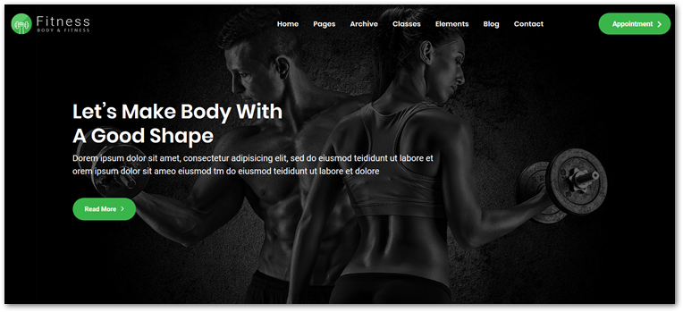 Fitness Theme screenshot