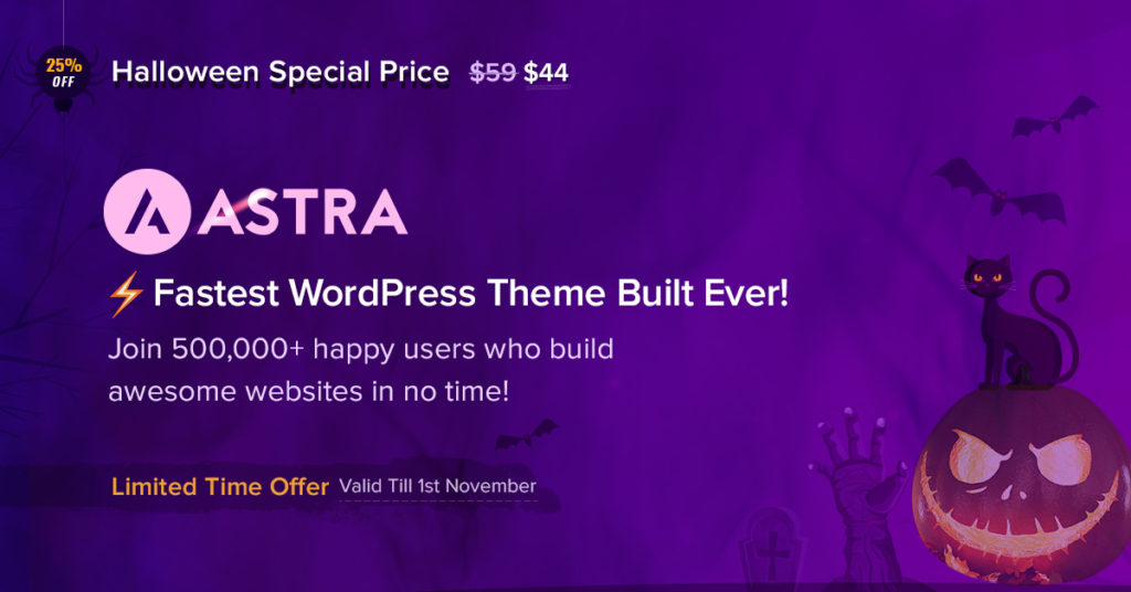 Astra Pro theme banner