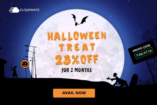 Cloudways halloween treat banner