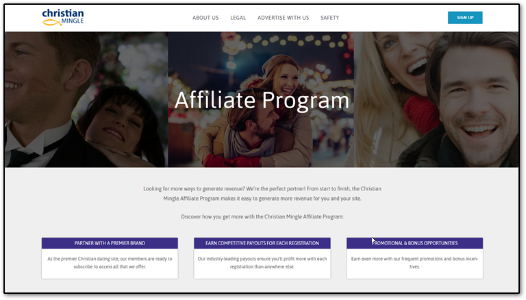 Christian Mingle affiliate program page