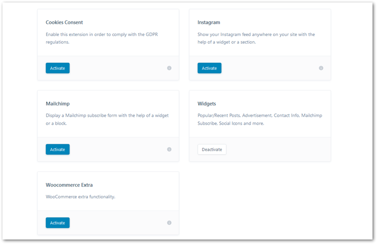 blocksy extensions in WordPress