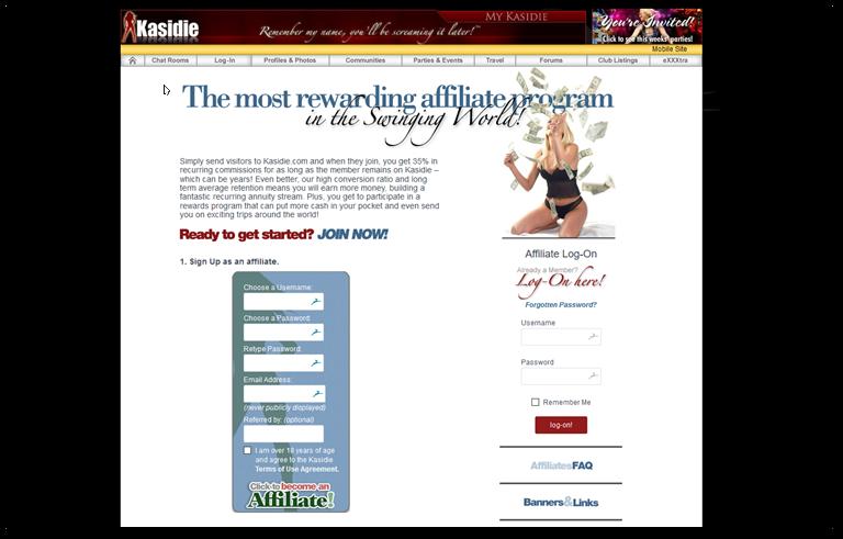 Kasidie affiliate program page