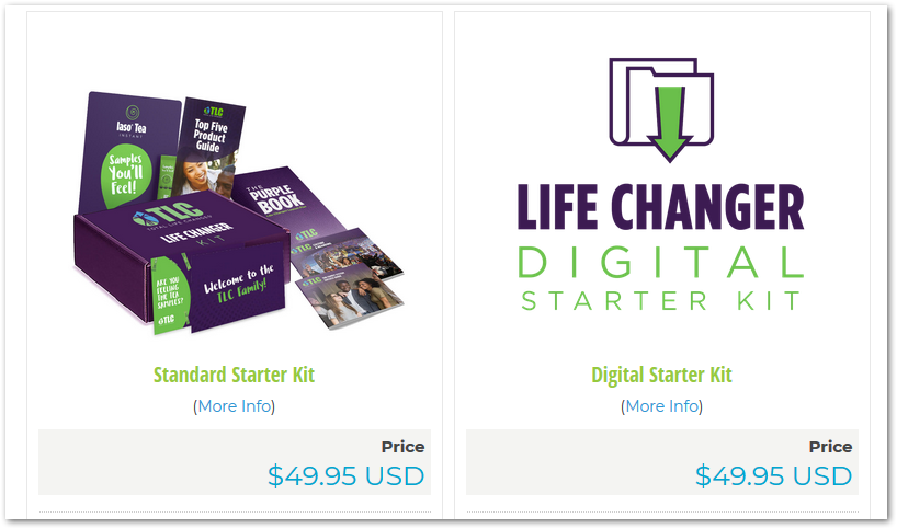 Life Changer Starter kit options