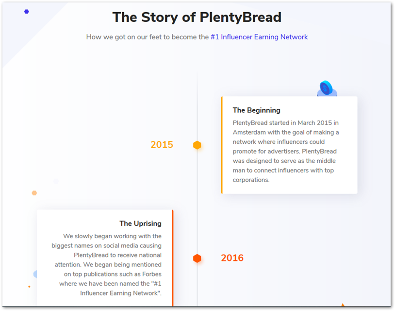 Plenty Bread story on their About page