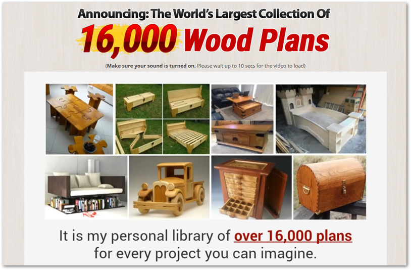 Ted's Woodworking offer page