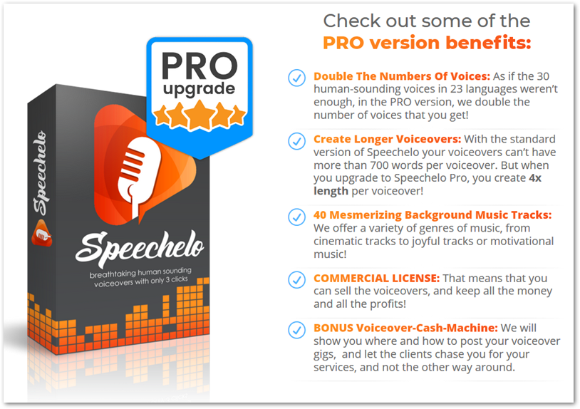 benefits of Speechelo pro upgrade