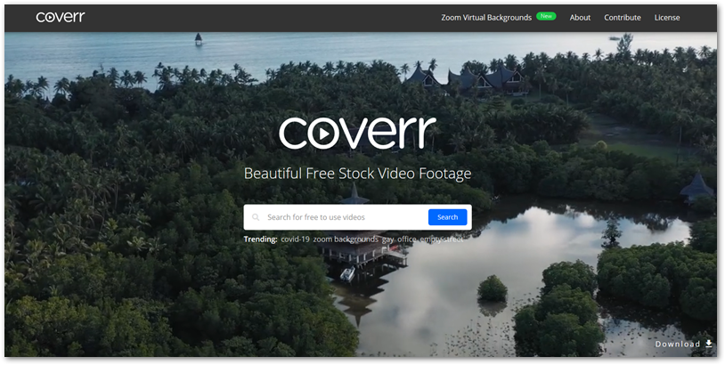 coverr free stock video footage site