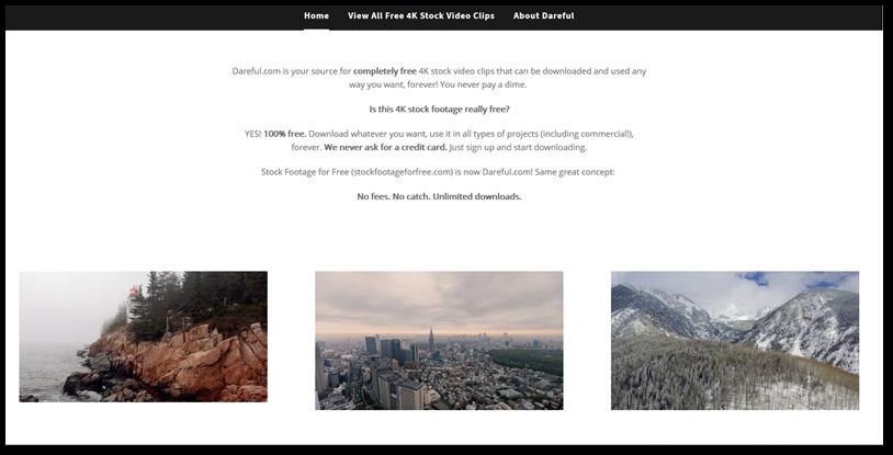 Dareful Free stock video clips in 4k site