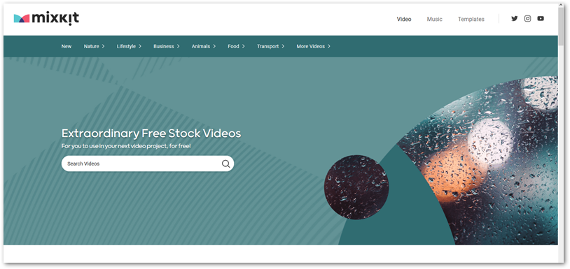 Mixkit free stock video page