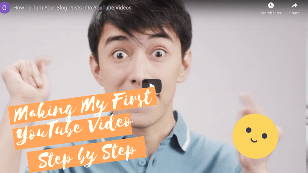 Making My First YouTube Video step by step graphic