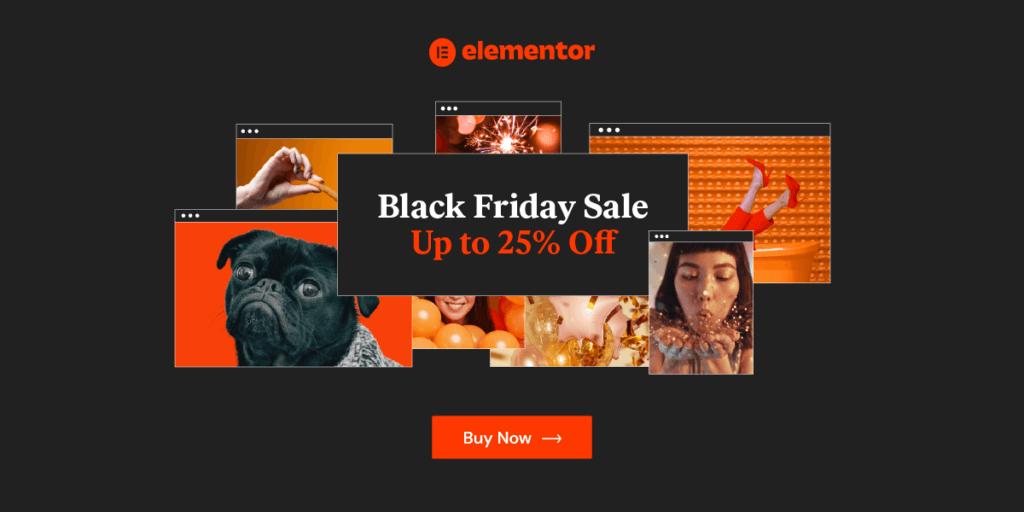 Elementor Pro Black Friday 2020 banner