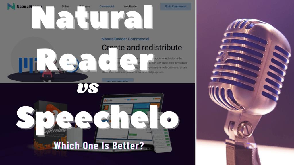Natural Reader vs Speechelo graphic