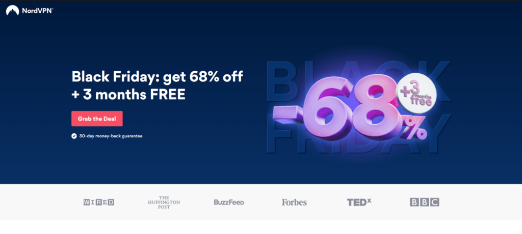 NordVPN Black Friday discount banner