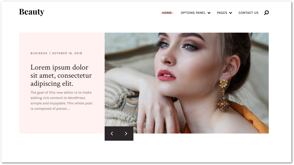 Beauty WordPress theme screenshot