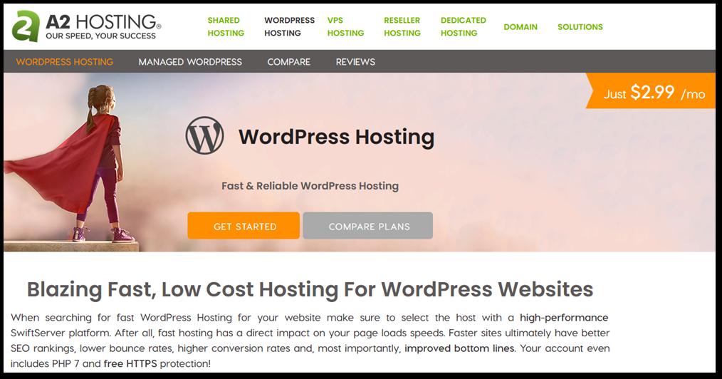 a2 hosting screenshot